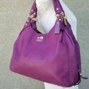Coach Madison Maggie Leather Shoulder Handbag